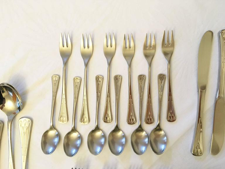 Flatware, Cutlery Set by Berndorf Model 9100, Charleston 7