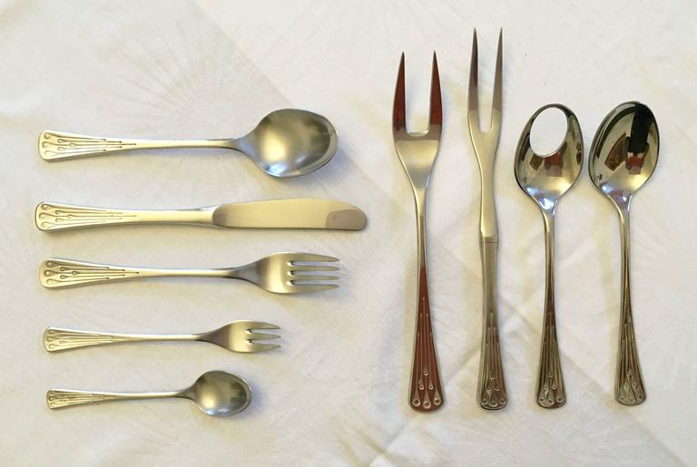 Flatware, Cutlery Set by Berndorf Model 9100, Charleston 8