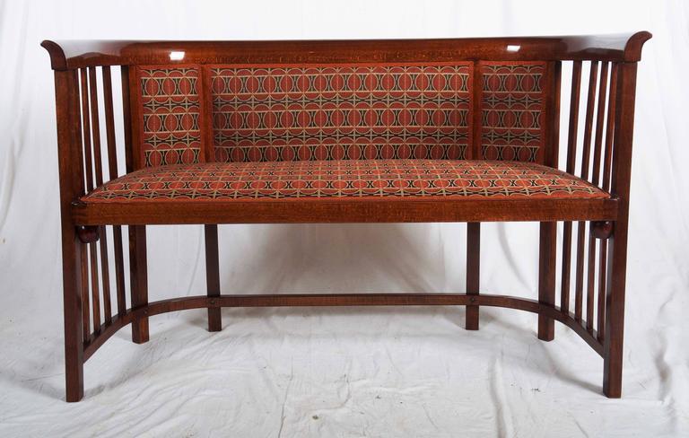 Austrian Josef Hoffmann Bentwood Settee For Sale