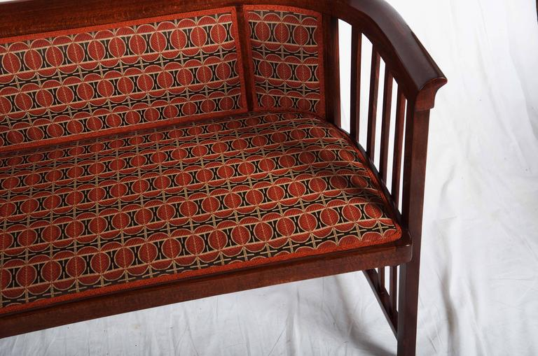 Early 20th Century Josef Hoffmann Bentwood Settee For Sale