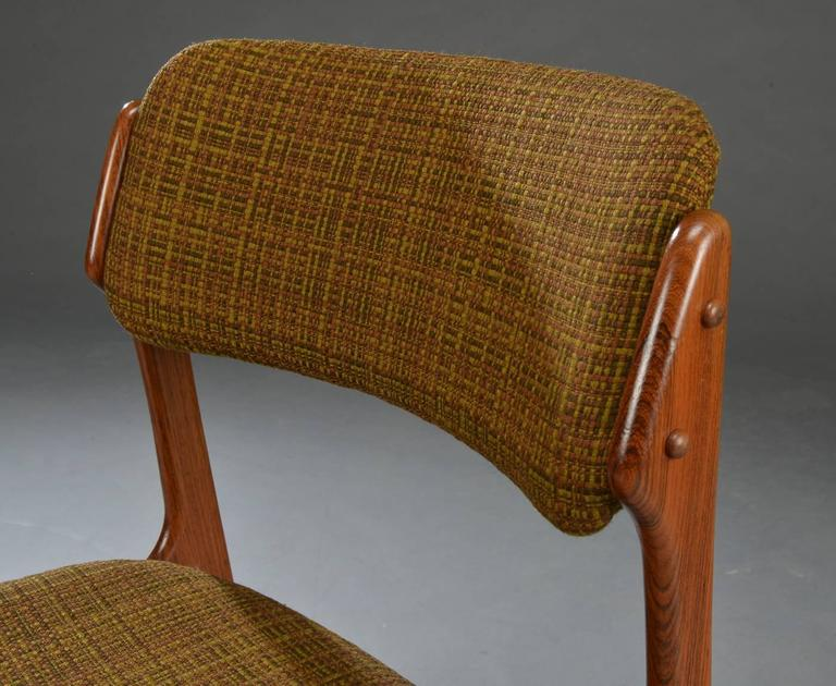 Set of Four Rosewood Dining Chairs by Erik Buck In Excellent Condition For Sale In Vienna, AT
