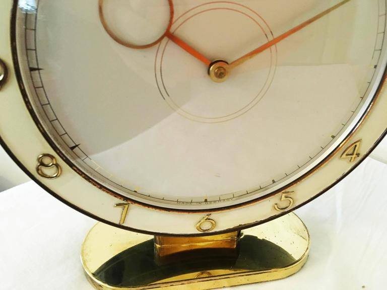 Brass Art Deco Kienzle Table Clock For Sale
