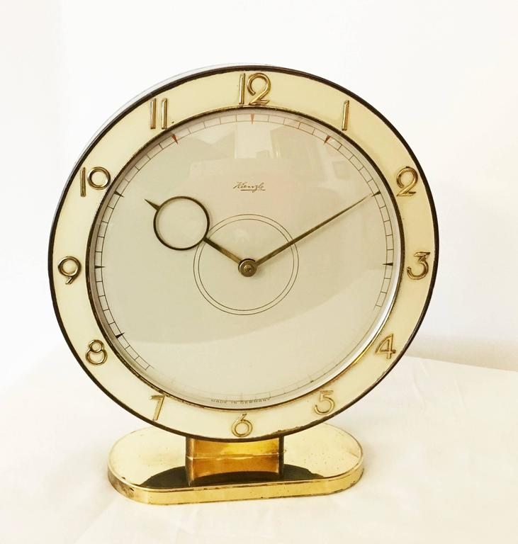 Mid-20th Century Art Deco Kienzle Table Clock For Sale