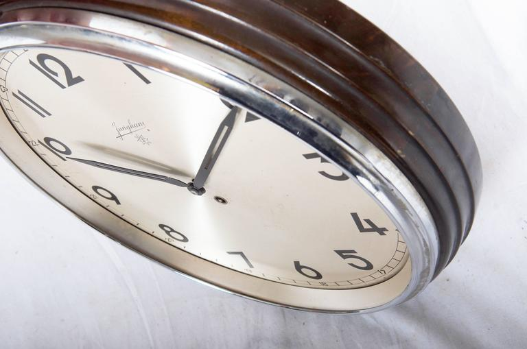 Large Junghans Bauhaus Wall Clock From The 1930s At 1stdibs