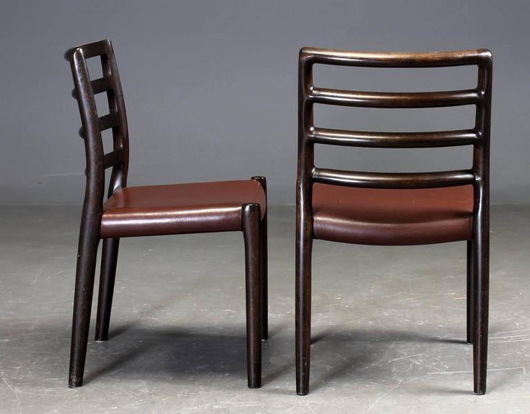 Danish Set of Six Oak Dining Chairs by Niels O. Moller for J.L.Moller For Sale