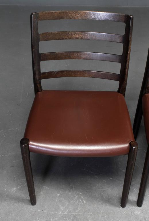 Set of Six Oak Dining Chairs by Niels O. Moller for J.L.Moller In Excellent Condition For Sale In Vienna, AT