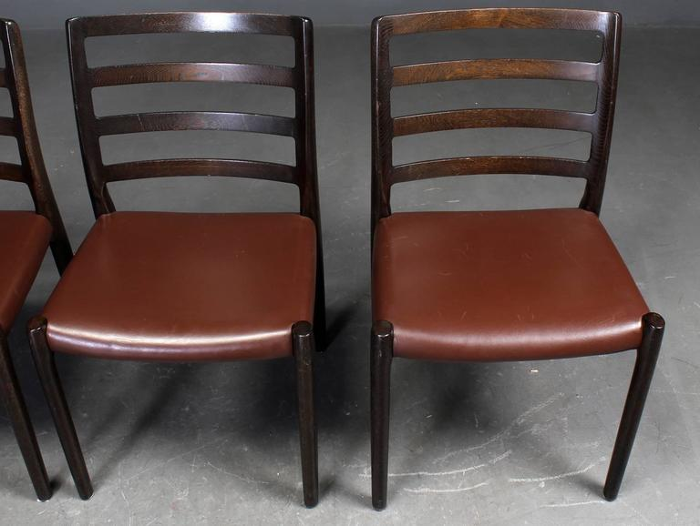 Late 20th Century Set of Six Oak Dining Chairs by Niels O. Moller for J.L.Moller For Sale