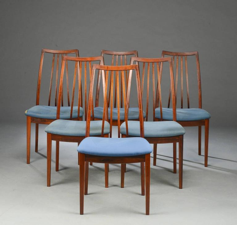 Set of Six Mid-Century Danish Rosewood Dining Chairs 4