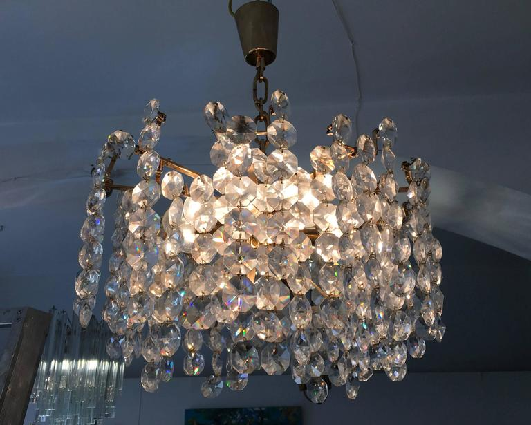 Unique cut crystal chandelier by bakalowits for sale at for Unique chandeliers for sale