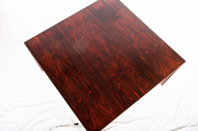 Solid hardwood with hardwood veneer, made in Sweden in the 1960s, signed ST.