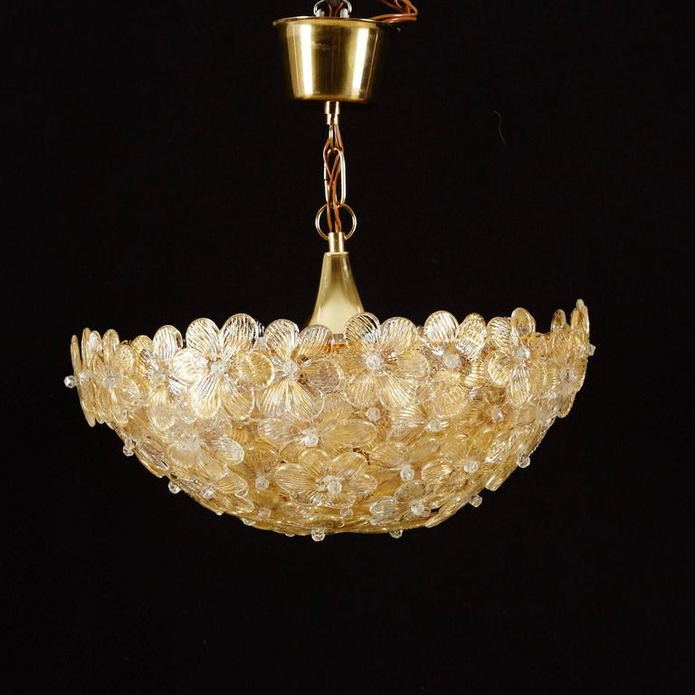 Beautiful Murano Chandelier by Barovier e Toso For Sale at 1stdibs