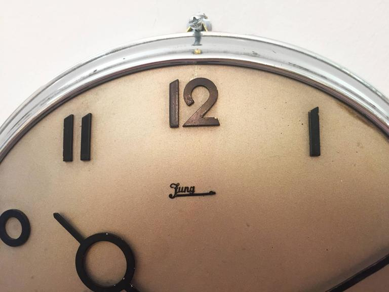 Junghans Bauhaus Wall Clock From The 1930s At 1stdibs