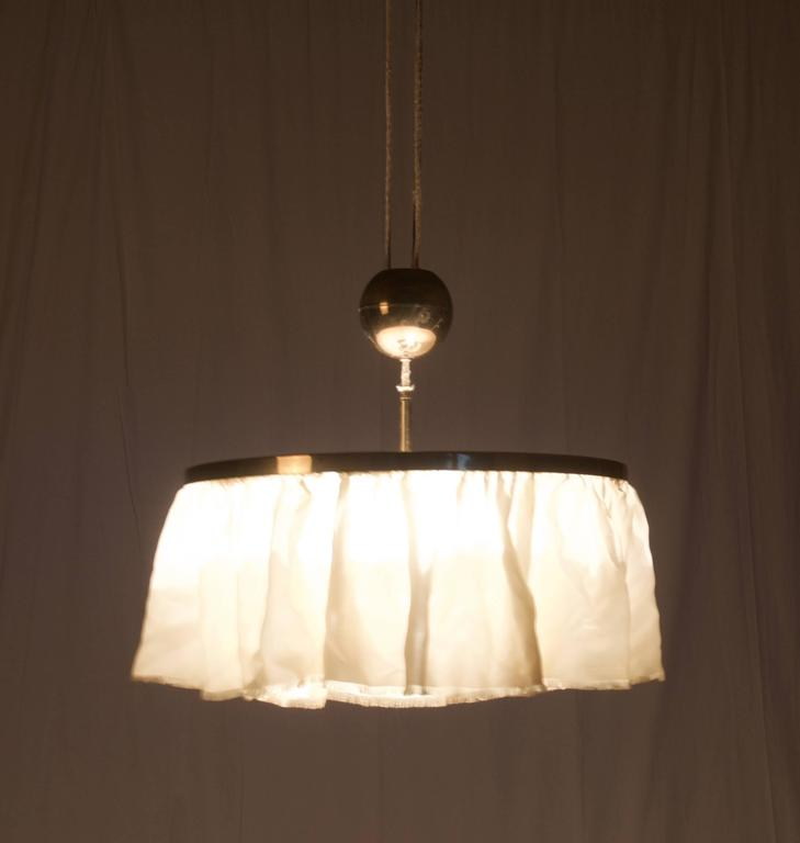 Mid-20th Century Adjustable Brass Lamp, Attributed to Adolf Loos For Sale