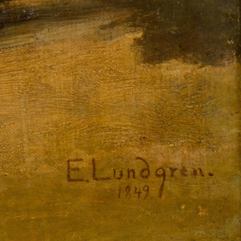 Egron Lundgren, oil on relined canvas, signed and dated 1849.