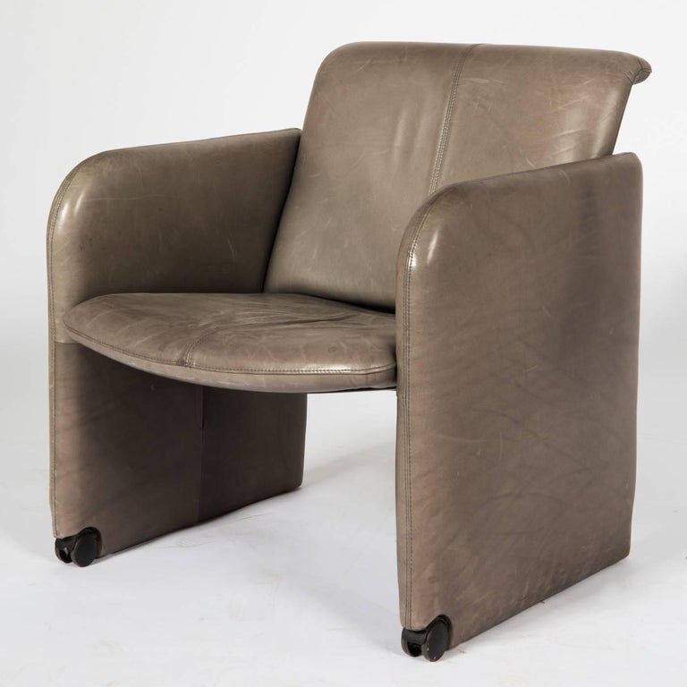 Late 20th Century Set of Six COR Leather Armchairs For Sale
