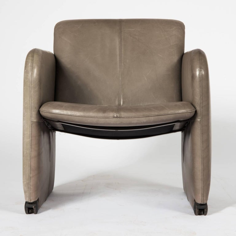 Set of Six COR Leather Armchairs In Good Condition For Sale In Vienna, AT
