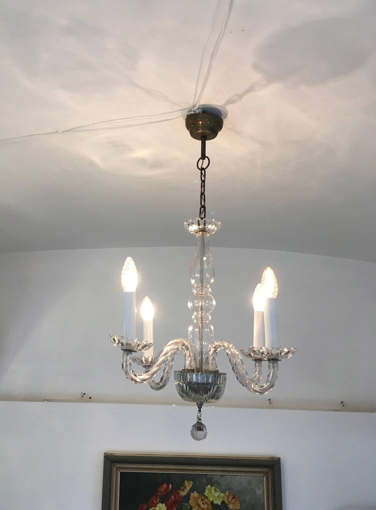 Beautiful Venezian Glass Chandelier For Sale at 1stdibs