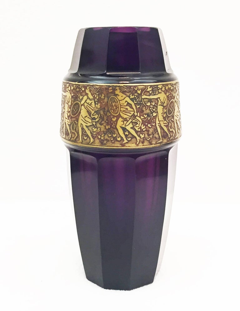 Austrian Vienna Secession Grass Vase by Moser Karlsbad For Sale