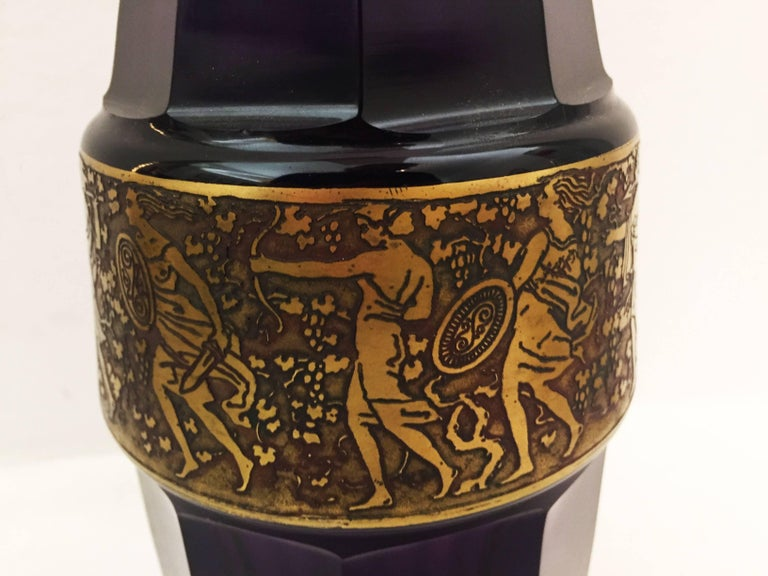 Vienna Secession Grass Vase by Moser Karlsbad In Excellent Condition For Sale In Vienna, AT