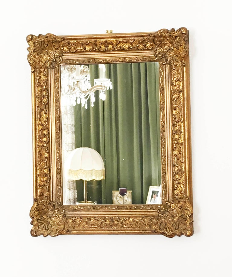 Early 20th Century Baroque Style, Century Style Giltwood Carved Mirror For Sale 1