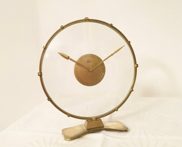 Art Deco Table Clock by Heinrich Möller for Kienzle For Sale 3
