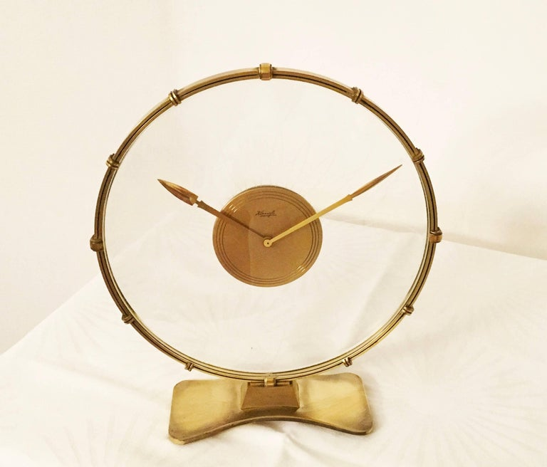 Art Deco Table Clock by Heinrich Möller for Kienzle For Sale 2