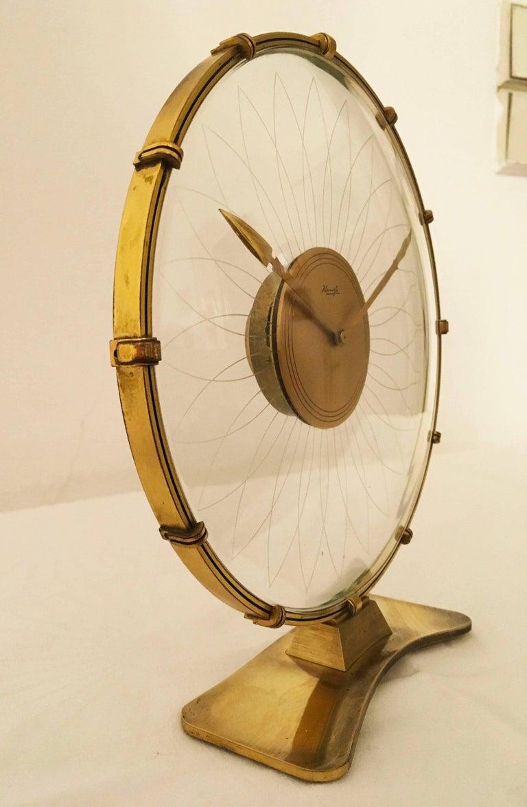 Mid-20th Century Art Deco Table Clock by Heinrich Möller for Kienzle For Sale