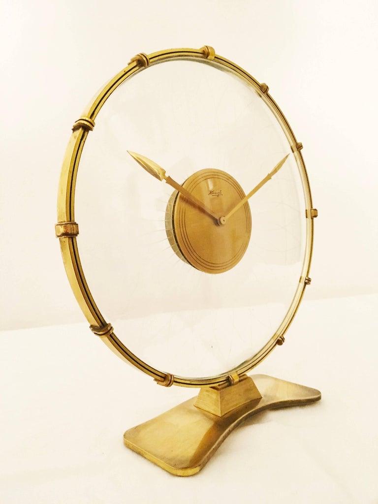Art Deco Table Clock by Heinrich Möller for Kienzle For Sale 1