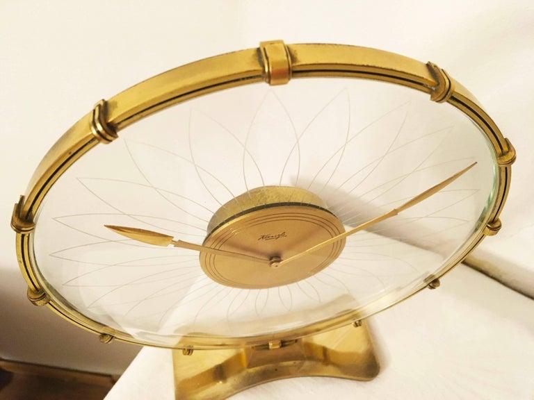 German Art Deco Table Clock by Heinrich Möller for Kienzle For Sale