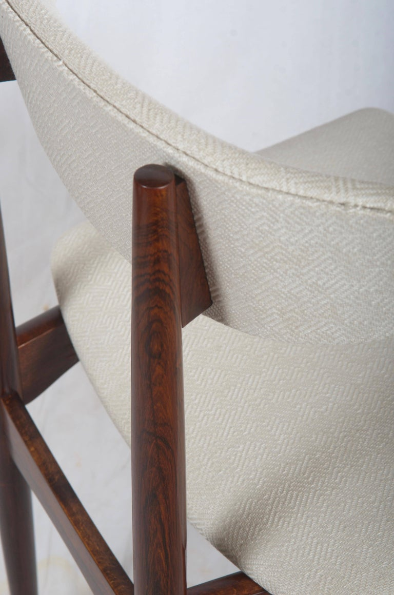 Upholstery Midcentury Danish Dining Chairs For Sale