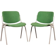 Green Stackable Chairs by Giancarlo Piretti for Castelli