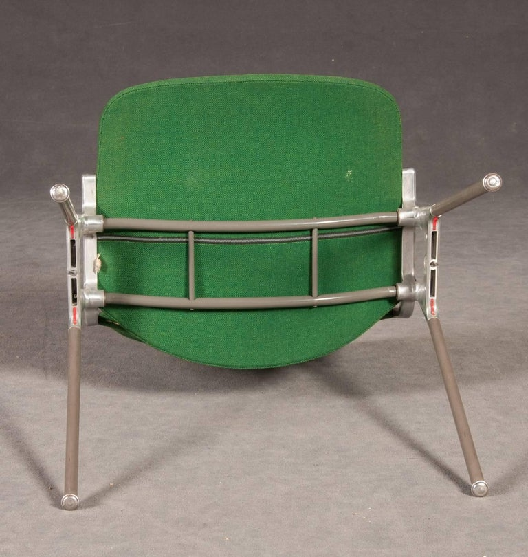 Mid-20th Century Green Stackable Chairs by Giancarlo Piretti for Castelli For Sale