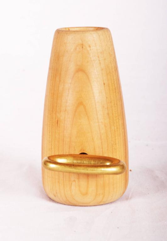 Mid-Century Modern Carl Auböck Wooden Holder with a Corkscrew For Sale