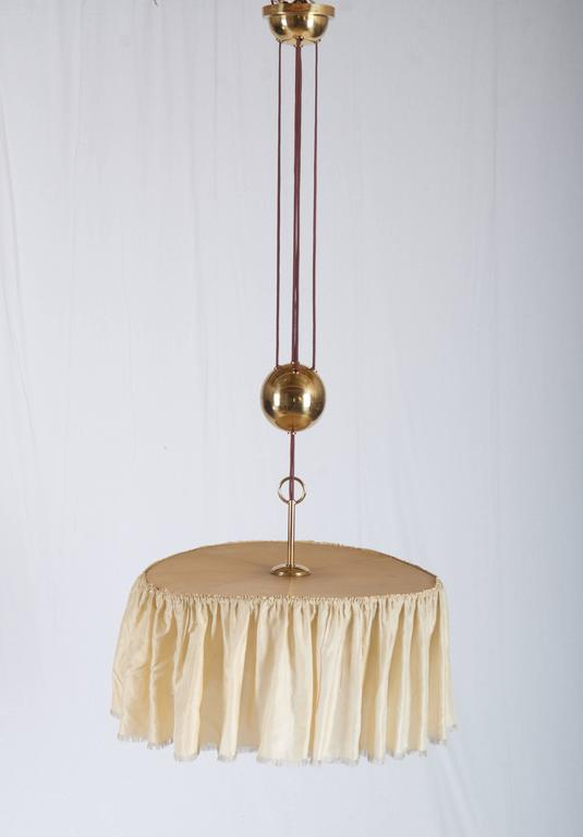 Austrian Adjustable Brass Lamp, Attributed To Adolf Loos For Sale