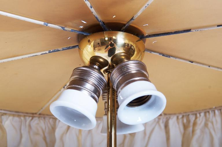 Adjustable Brass Lamp, Attributed To Adolf Loos In Excellent Condition For Sale In Vienna, AT