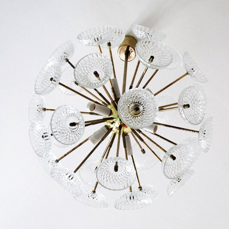 Mid-Century Modern Large Sputnik Chandelier For Sale