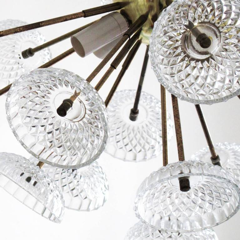 Czech Large Sputnik Chandelier For Sale