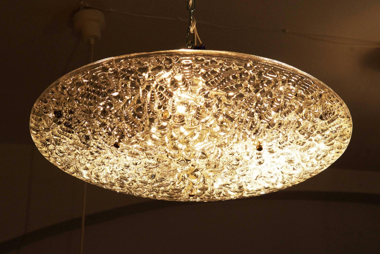 j t kalmar textured glass ceiling light for sale at 1stdibs