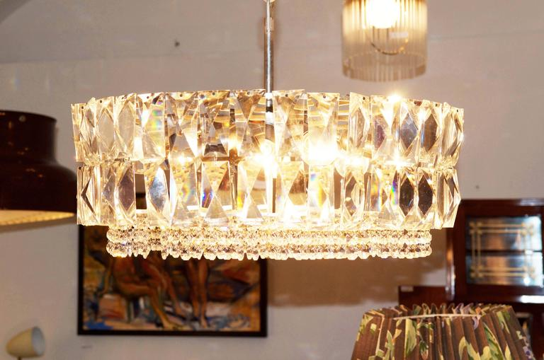 Large Impressive Cut Crystal Chandelier by Bakalowits For Sale 3