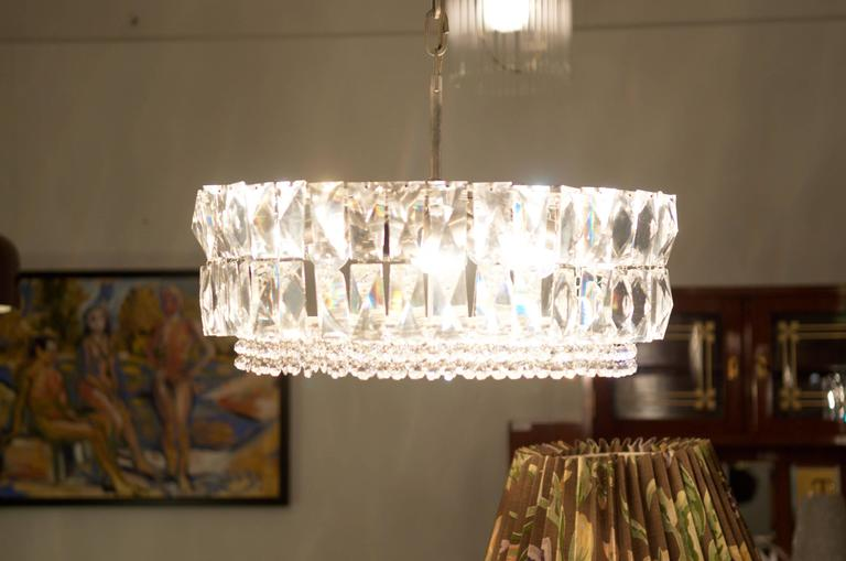 Austrian Large Impressive Cut Crystal Chandelier by Bakalowits For Sale
