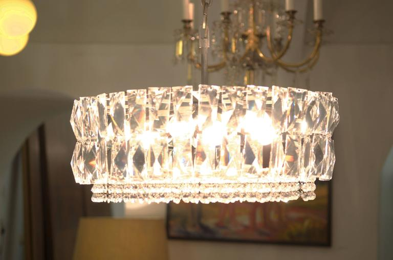 Large Impressive Cut Crystal Chandelier by Bakalowits In Excellent Condition For Sale In Vienna, AT