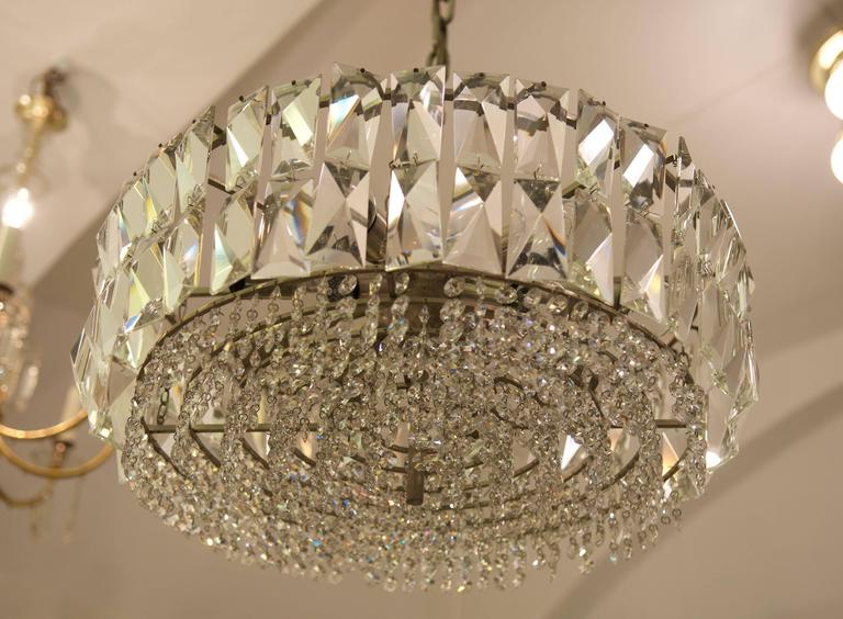 Large Impressive Cut Crystal Chandelier by Bakalowits For Sale 1