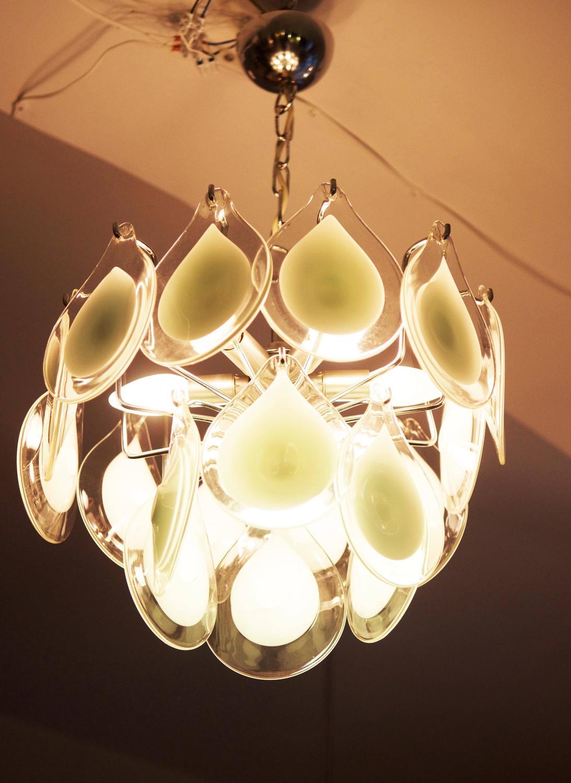 rare art glass chandelier gino vistosi for venini for sale. Black Bedroom Furniture Sets. Home Design Ideas