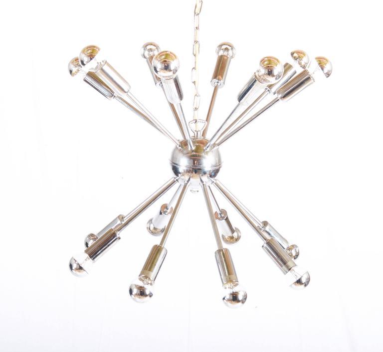 Steel Large Austrian Chrom-Plated Sputnik Chandelier For Sale