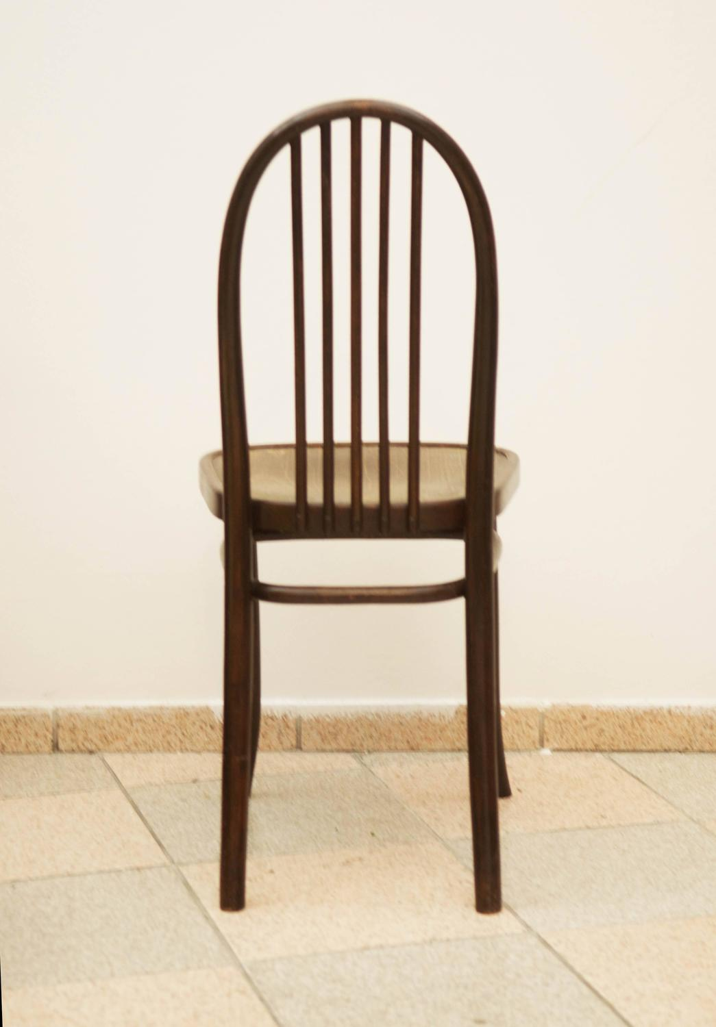 Set Of Six Thonet Chairs No 644 Designed By Josef Hoffmann For Sale At 1stdibs