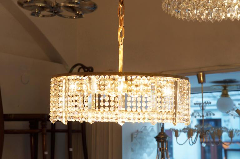 Austrian Cut Crystal Chandelier by Bakalowits & Söhne For Sale 4
