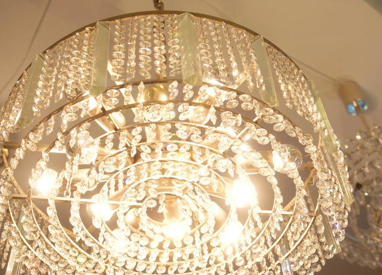 Austrian Cut Crystal Chandelier by Bakalowits & Söhne For Sale 5