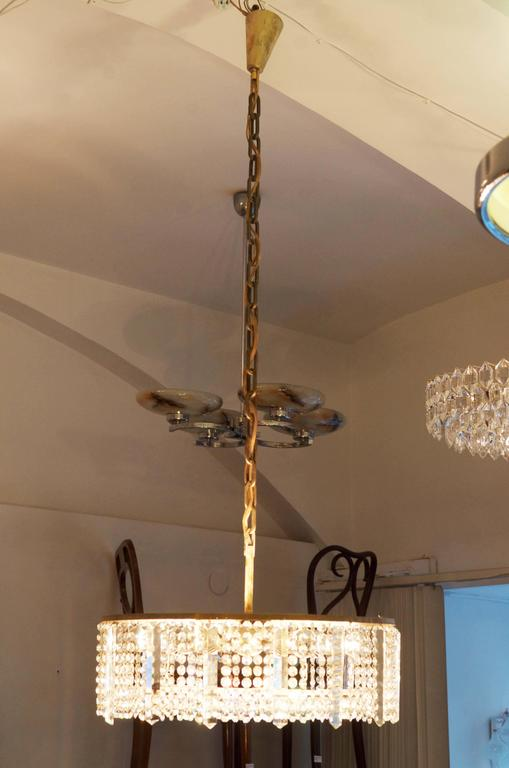 Mid-20th Century Austrian Cut Crystal Chandelier by Bakalowits & Söhne For Sale