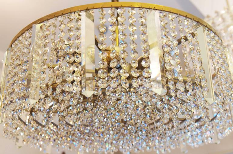 Austrian Cut Crystal Chandelier by Bakalowits & Söhne For Sale 1