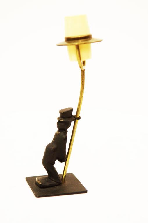 Austrian Brass Salt Shaker by Walter Bosse for Hertha Baller For Sale